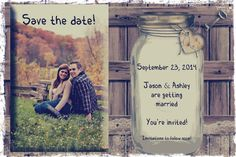 Save the date rustic wedding reminder card by OldOwlPress on Etsy, $15.00