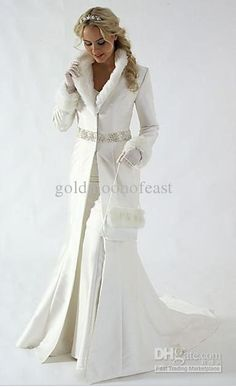 new arrivals winter wedding dress wedding coat v neck long sleeves muslim bridal gowns winter - Winter Wedding Gown Sleeve Wedding Dress Winter, Christmas Wedding Dresses, Wedding Dress Trends, Winter Dresses, Wedding Ideas, Wedding Jacket, Winter Weddings, Wedding Fur, Dress Wedding