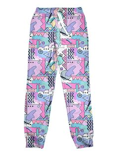 Public Space's Fall/Winter collection features these vaporwave joggers. We also have vaporwave, and inspired clothing, joggers. Harajuku Fashion, 80s Fashion, Cute Fashion, Fashion Outfits, Colourful Outfits, Retro Outfits, Cool Outfits, Vintage Outfits, Vaporwave Clothing