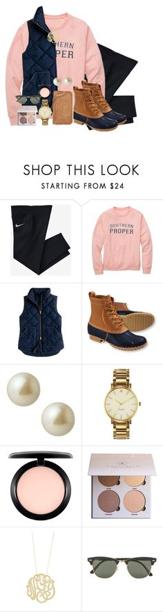 """illuminate is the best freaking album ever. #shawnslaysonceagain"" by sydneylawsonn ❤ liked on Polyvore featuring NIKE, Southern Proper, J.Crew, L.L.Bean, Carolee, Kate Spade, MAC Cosmetics, Anastasia Beverly Hills, Ginette NY and Ray-Ban"