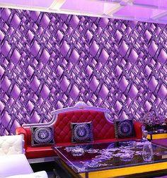 32.25$ Buy now - 3D Vision Modern Brief Rhombus Diamond Abstract Wallpaper Purple Stereo ktv Wall paper Background 3d wall murals wallpaper #aliexpress