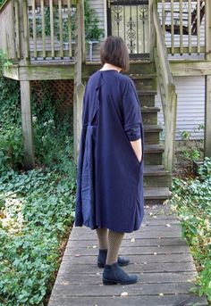 Tina Givens Serena Dress pattern, modified made in jersey and linen by pao @ projectminima.blogspot.com
