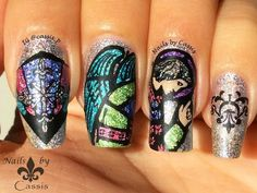 Nails by Cassis: Stained Glass Stamping Mani Inspired by MoYou Lond...