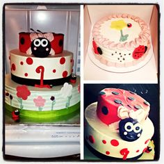 Ladybug cake for a one yr olds birthday!!
