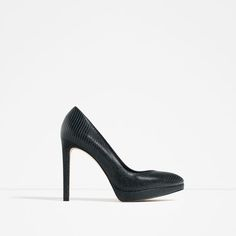 ZARA - COLLECTION AW16 - EMBOSSED LEATHER HIGH HEEL SHOES
