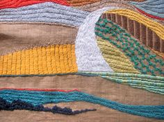 My tapestry nerina52. White road, Tuscany. Details...