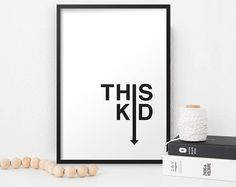 This Kid Typographic Nursery Print. New Born Gift. Nursery Prints, Nursery Decor, Etsy Seller, Kids, Instagram, Home Decor, Young Children, Boys, Decoration Home