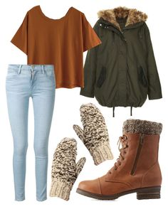 """Winter/Fall #WinterBoots"" by makaypay on Polyvore featuring Topshop, Charlotte Russe and Frame"