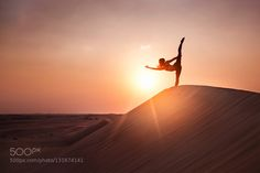 Popular on 500px : Yoga in the desert by ericpare