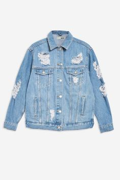 Ripped Denim, Distressed Denim, Korean Fashion Kpop Inspired Outfits, Jean Jacket Outfits, Oversized Denim Jacket, Cute Jackets, Denim Jackets, Swag Outfits, Denim Outfits
