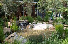 Melbourne International Flower & Garden Show (MIFGS) sustainable landscape award & gold medal winning garden, Equilibrium 2012 #gardens #melbourne #green