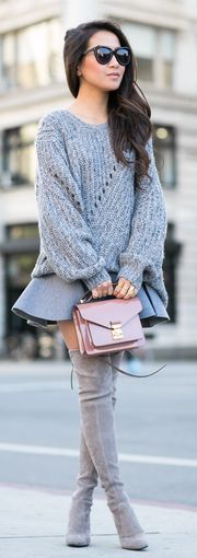 Bundled Oversized Sweater Outfit Idea by Wendy's Lookbook