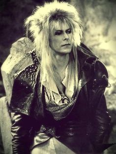 1986 - David Bowie as Jareth, The Goblin King in Labyrinth film. David Bowie Labyrinth, Labyrinth Film, Jareth Labyrinth, Goblin King, Cosplay, Dying My Hair, Fraggle Rock, The Thin White Duke, Intimate Photos