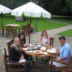 Lunch at Hazlewood Castle in Leeds, England! Leeds England, Outdoor Tables, Outdoor Decor, Grand Entrance, Wedding Reception, Castle, Lunch, Patio, Travel