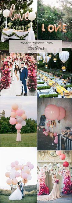 Ballon Wedding Ideas for Modern Wedding / http://www.deerpearlflowers.com/modern-wedding-theme-ideas/