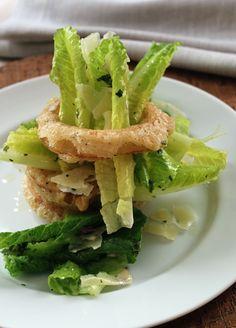 Baby Romaine Stuffed Vidalia Onion Ring Salad with Lemon-Herb Vinaigrette from Emeril