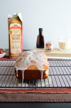 Whipped Eggnog Loaf Cake - with eggnog glaze