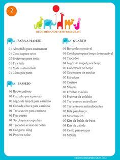 Organize sem Frescuras   Rafaela Oliveira » Arquivos » Lista completa de Chá de Bebê para imprimir