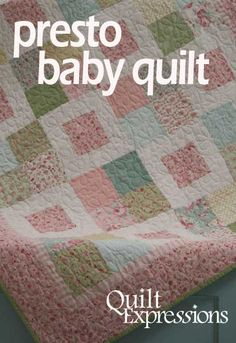Quilt Expressions is a full service quilting supplies store. We stock over bolts of quilting fabrics and patterns, quilting kits, quilt pre-cuts, thread and notions. Cute Quilts, Lap Quilts, Scrappy Quilts, Small Quilts, Quilt Blocks, Baby Quilt Tutorials, Baby Quilt Patterns, Baby Sewing Projects, Quilting Patterns