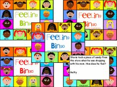 BINGO- situation cards are read as students mark three in a row to make a bingo. Game Board for younger children to identify and match.