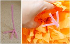 DIY Tissue Paper Pom Owls