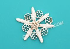 Macaroni Snowflake - 19 - Click on image to see step-by-step tutorial.