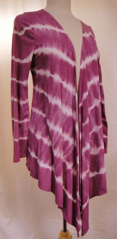 Soft Surroundings Tie Dye Open Front High-Low Cardigan Top Deep Pink White Sz L #Soft #Surroundings #Open #Front #CardiganTop #Versatil #Dynamic #Unique #Style #Fashion #Summer #Beach #Spring