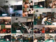 Sala de Leitura - Diretoria de Ensino de Santo Anastácio - Município de Presidente Epitácio - Escola Orlando Drumond Murgel Engenheiro.