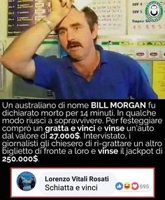 """Quando il culo ha fortuna dice di aver avuto """"Bill Morgan"""". #commentimemorabili"""