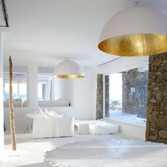 White / Gold in use in living room