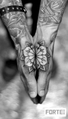 Beautiful floral hand piece by Dillon Forte #InkedMagazine #tattoo #hand #tattoos #inked #ink #floral #flower