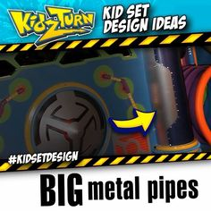 make BIG metal pipes - At Home Depot or Lowes you'll find these cardboard Quick Tubes, used to make concrete forms. We like them 'cuz they are lightweight, easy to work with & crazy versatile....  Instagram video - Click to play   #kidsetdesign - #kidmin #kidschurch #vbs #kidsministry #kidsmin #childrensministry #stagedesign #setdesign #kidstagedesign