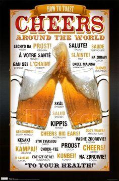 Cheers around the world Bier Metallschild Retro Reklame Blechschild 792 More Beer, All Beer, Wine And Beer, Best Beer, Beer 101, Cheers, Beer Quotes, Beer Poster, Beers Of The World