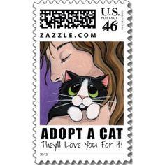 Adopt A Cat - Medium Postage