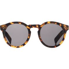 Illesteva Women's Leonard II Sunglasses (8.600 UYU) ❤ liked on Polyvore featuring accessories, eyewear, sunglasses, glasses, no color, round keyhole sunglasses, rounded sunglasses, round acetate sunglasses, tortoise shell sunglasses and round tortoise sunglasses