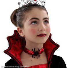 Image detail for -Vampire-halloween-costumes :: vampire-child-choker-halloween-accessory . Costume Halloween, Girls Vampire Costume, Vampire Costumes, Diy Halloween Costumes For Kids, Fete Halloween, Vampire Kids, Scary Vampire, Costume Dracula, Girl Vampire Makeup