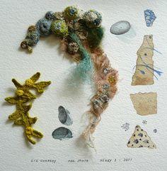 Gallery II Sketchbook Studies Textiles Inspiration with thanks to Fibre Artist Liz Cooksey, Textile Artist Inspiration for Art School and Developing Art Portfolios