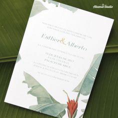 Invitaciones de boda www.altamarstudio.com
