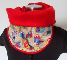 Bunter Schal Tuch  Loop Eule Vogel Bird Owl von Zellmann Fashion auf DaWanda.com