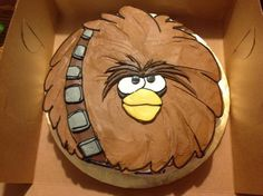 angry bird star wars cake | Angry Birds Star Wars Submit Download Birthday Cake For Husband, Mom Birthday Gift, Cake Birthday, Birthday Crafts, Birthday Nails, Birthday Bash, Birthday Ideas, Happy Birthday, Teen Cakes
