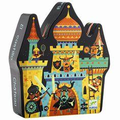 54 piece castle jigsaw puzzle for Djeco Puzzle Djeco, Puzzle Box, Toy Packaging, Saint Nicolas, Château Fort, Puzzles For Kids, Designer Toys, Toy Boxes, Little Man