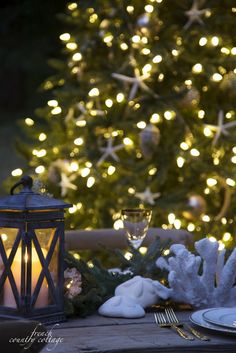 Bring a touch of Christmas magic to your outdoor summer parties.