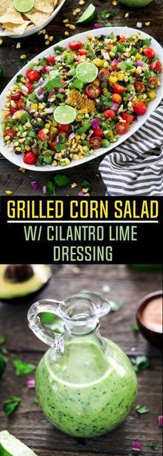 Fire up the grill, because you won't want to miss this flavorful summertime favorite. This Grilled Corn Salad is colorful, refreshing and satisfying. Summer Grilled Corn Salad w/ Cilantro Lime Dressing - http://veganhuggs.com/grilled-corn-salad/