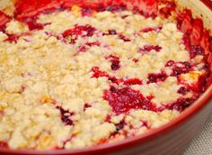 Cranberry Pear Crisp:  Trust me. This is way better than using those fresh cranberries for a sauce!