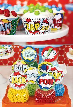 superhero-vintage-bright-cupcake-liners #pinhonest