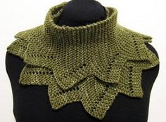 Crazy Crocodile Cowl - Knitting patterns for beginners can be dull sometimes, but that is not the case with the Crazy Crocodile Cowl. This knit cowl pattern is still made with the garter stitch, but is made with several triangle points, giving you a fun and festive winter accessory that you will love to wear. Your friends will clamor to know where you bought it and will beg for one once they learn you made it.