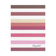 Girly Pink Red Wide Horizontal Stripes With Name flannel Blanket |... ($30) ❤ liked on Polyvore featuring home and children's room