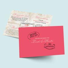 Kirchenkarten zur Hochzeit Globetrotter Mehr Reisepass Passport