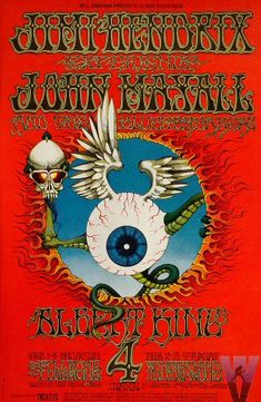 In 2007, Billboard compiled a list of the 25 coolest rock posters. The #1 spot went to this poster by Rick Griffin for a four-night run, Feb 1-4, 1968, at the Fillmore with Jimi Hendrix headlining.... May 2012