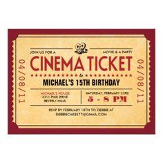 9 Best Film Invitations Images Invitations Invitation Invite